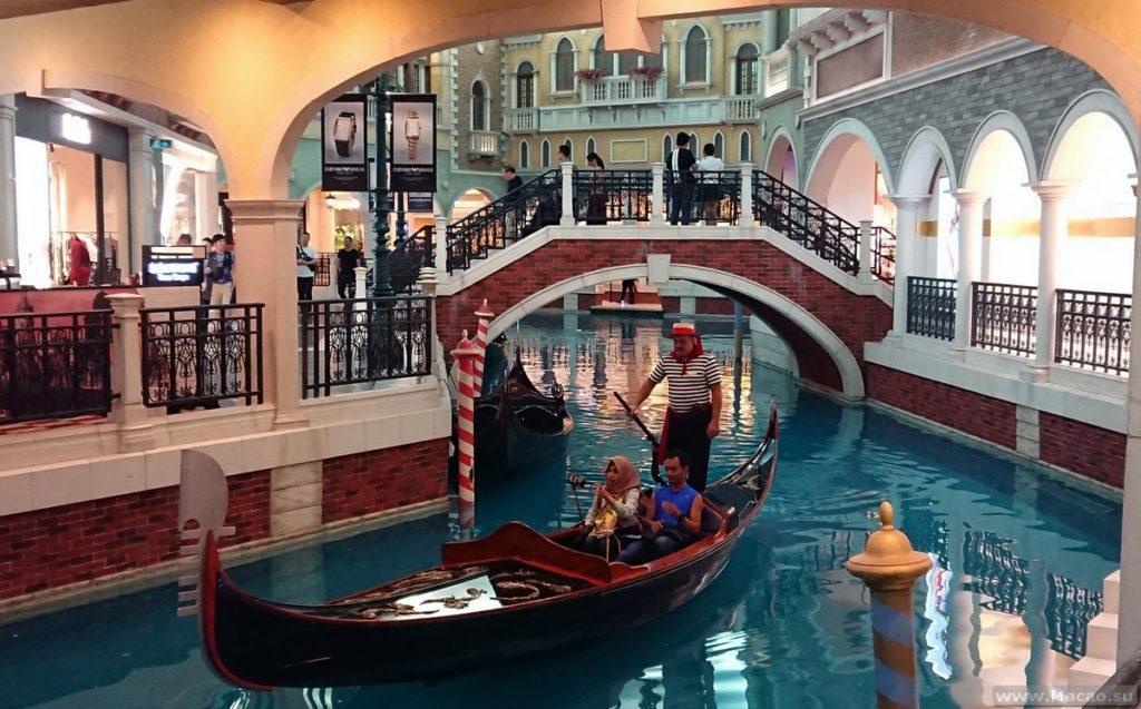 Гондолы в отеле Venetian Macau